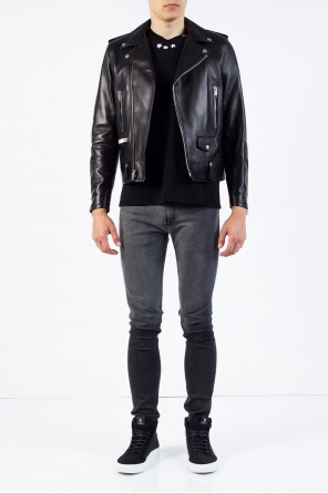 Leather biker jacket od Saint Laurent