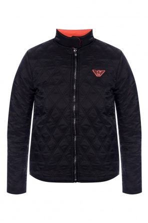 Quilted jacket with logo od Emporio Armani