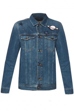 Patched denim jacket od Emporio Armani