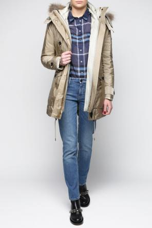 Down detachable lining jacket od Burberry