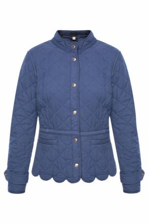 Band collar quilted jacket od Burberry