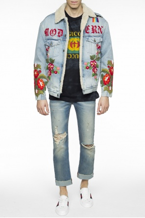 Down denim jacket od Gucci