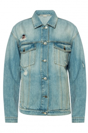 Denim jacket with holes od Stella McCartney