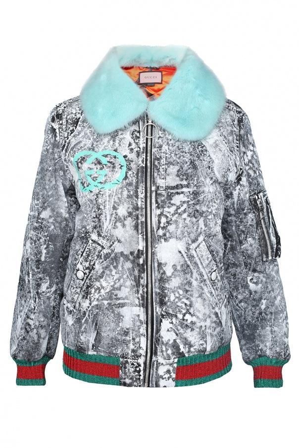 c6c4277f8d5ff Fur collar bomber jacket Gucci - Vitkac shop online