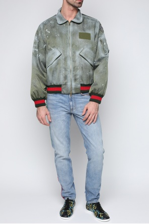 Printed bomber jacket od Gucci