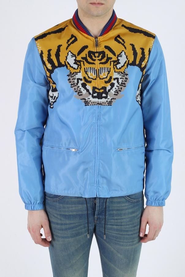 eb65730f617b8 Kurtka z nadrukiem tygrysa Gucci - sklep internetowy Vitkac