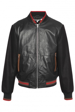 Leather bomber jacket od McQ Alexander McQueen