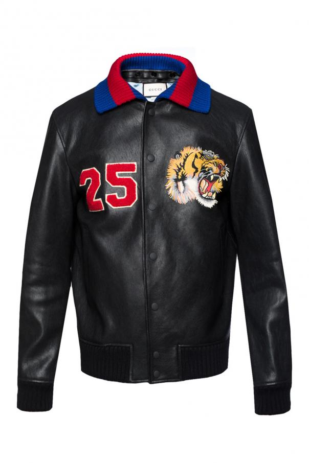 3a59d0ea0 Leather bomber jacket Gucci - Vitkac shop online