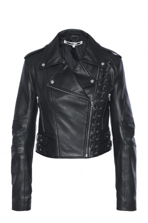 Biker jacket with lacing od McQ Alexander McQueen
