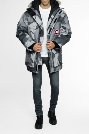 Hooded patterned jacket od Canada Goose