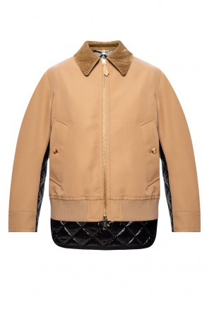 Jacket with quilted back panel od Burberry