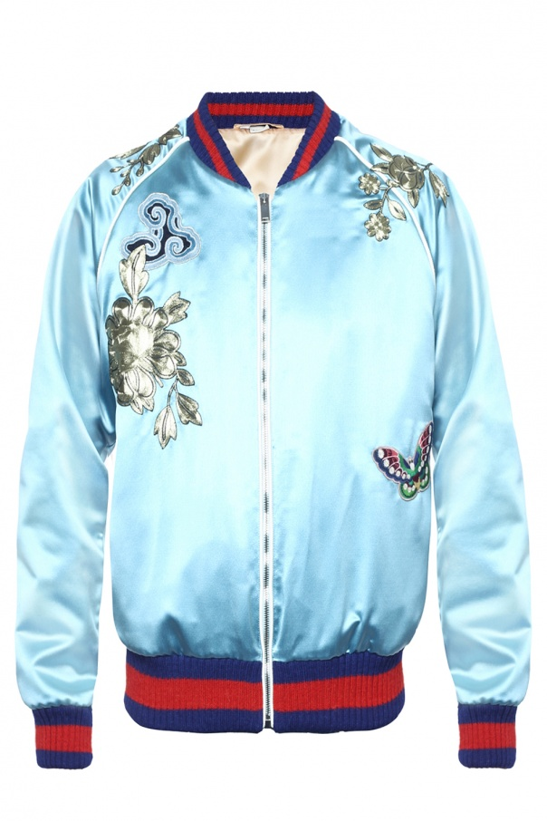 2e0725557 Patched bomber jacket Gucci - Vitkac shop online