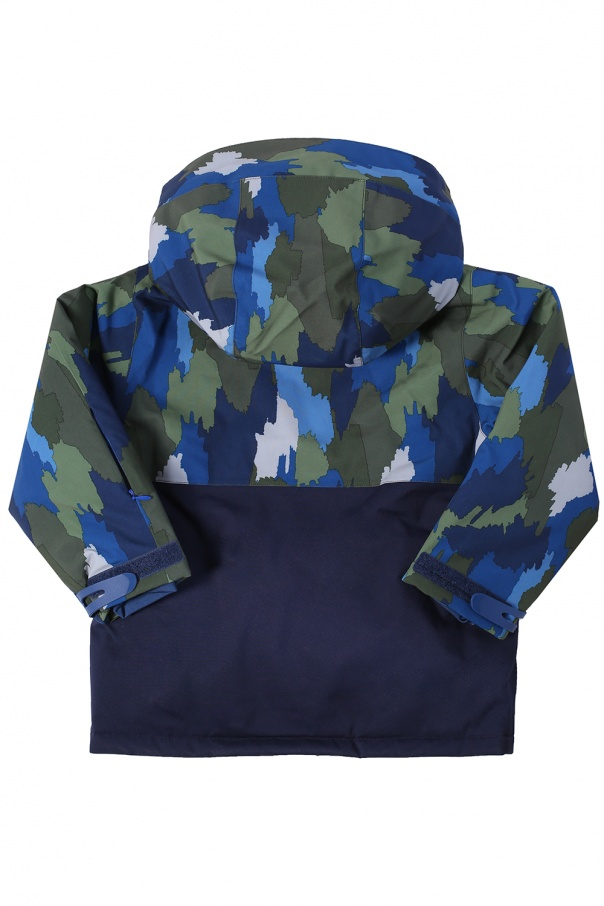 Detachable hood patterned jacket od Stella McCartney Kids