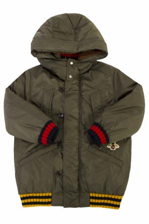 Down jacket with removable hood od Gucci Kids