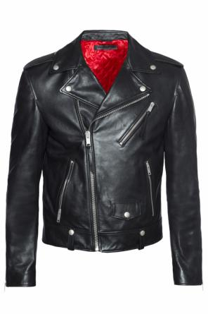 Leather biker jacket od Alexander McQueen