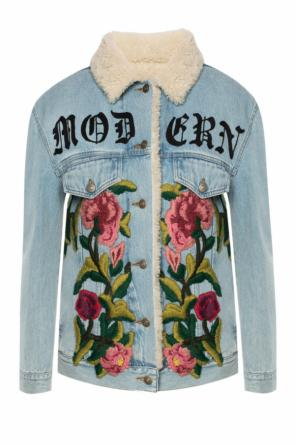 Embroidered denim jacket od Gucci