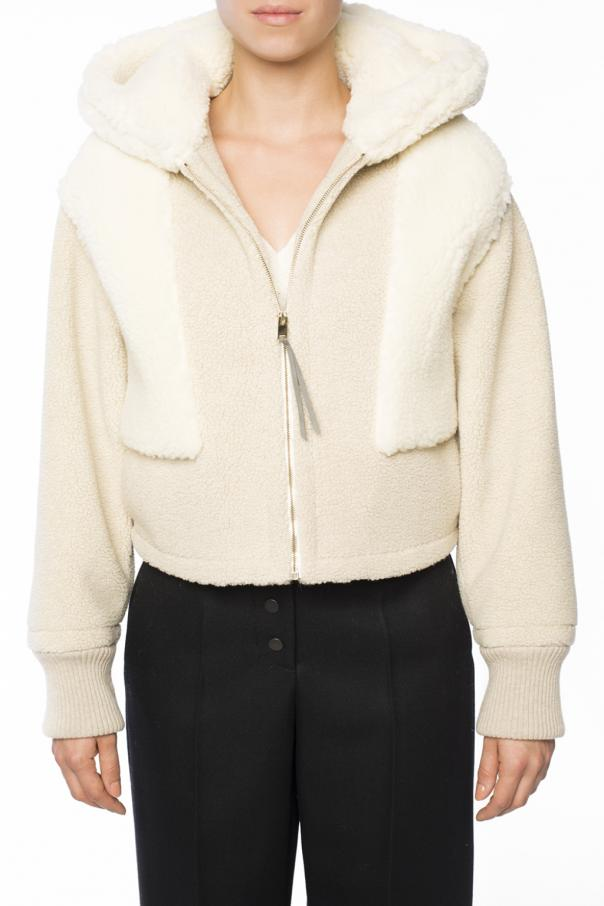 Cropped fur jacket od Stella McCartney