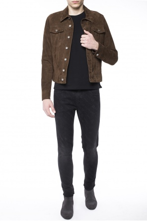 Suede jacket od Saint Laurent