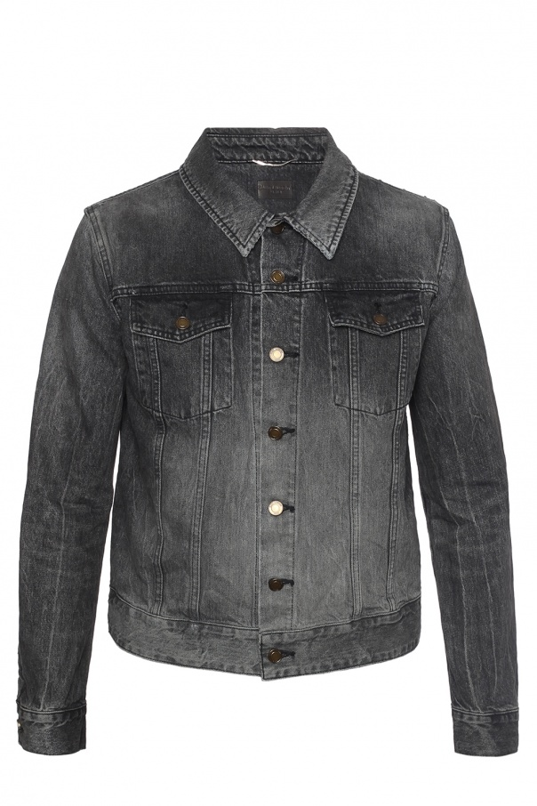 Patched denim jacket od Saint Laurent