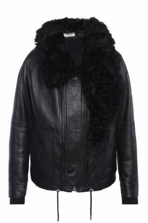 Jacket with fur collar od Saint Laurent