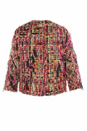 Tweed jacket with fringes od Alexander McQueen