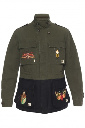 Patched jacket od Gucci