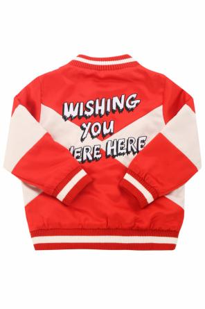 Patched bomber jacket od Stella McCartney Kids