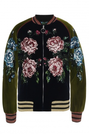 Sequin-appliqued bomber jacket od Gucci