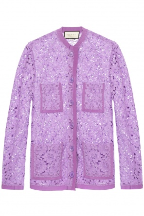 Flower lace blazer od Gucci