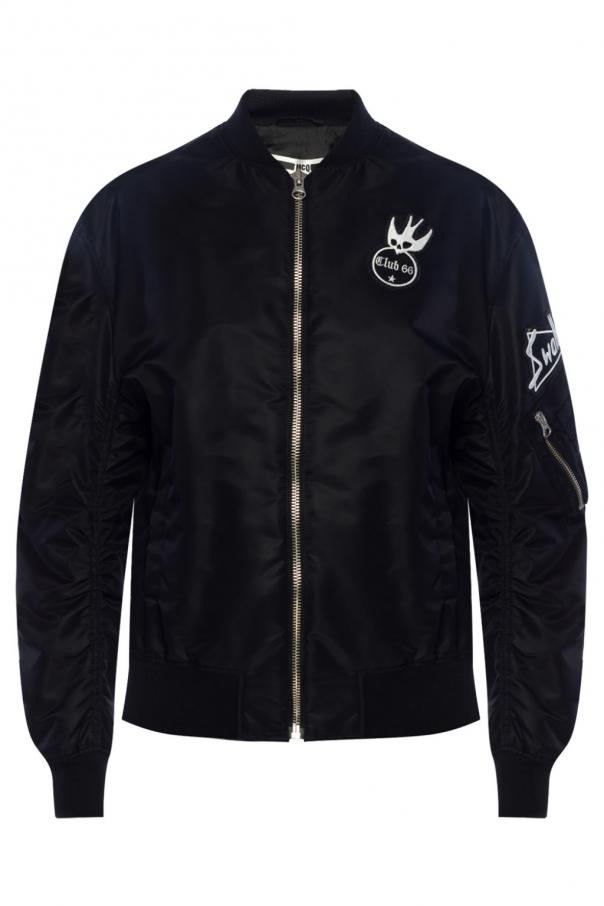 MCQ Patched bomber jacket