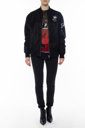 Patched bomber jacket od McQ Alexander McQueen