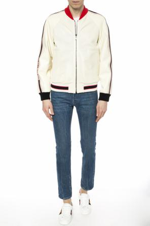 Perforated bomber jacket od Gucci