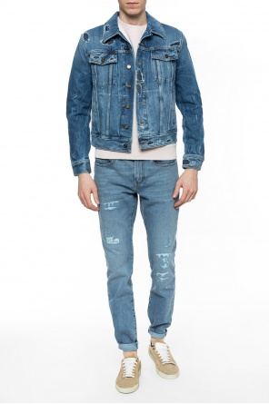 Distressed denim jacket od Saint Laurent