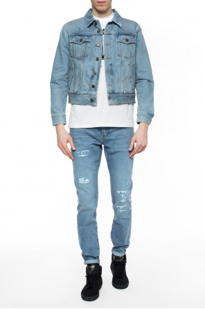 Stonewashed denim jacket od Saint Laurent