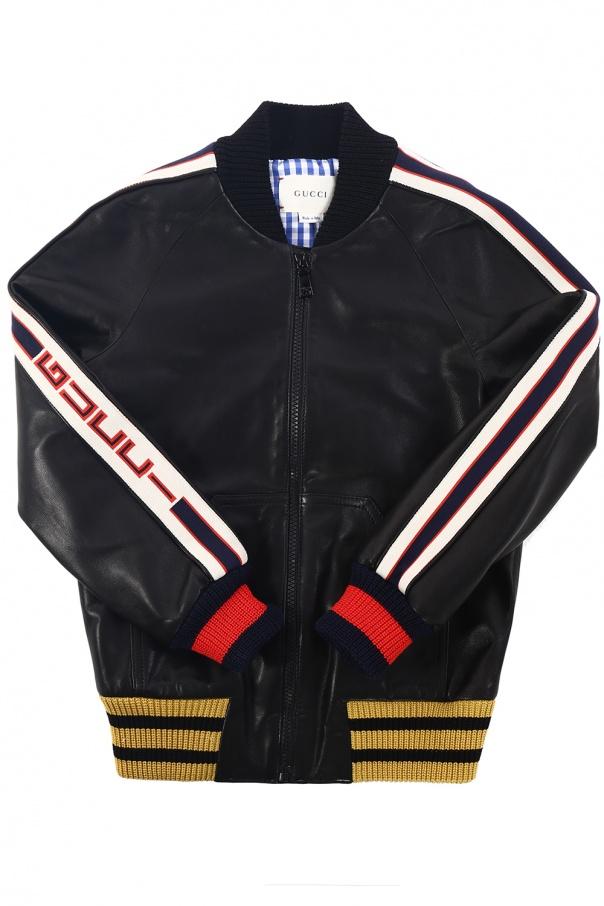 08c7e80604d7 Leather bomber jacket Gucci Kids - Vitkac shop online