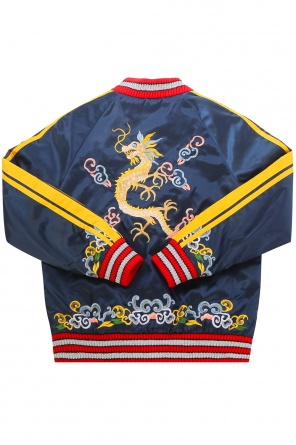 Embroidered bomber jacket od Gucci Kids