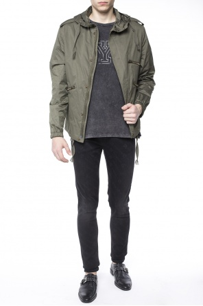 Patched jacket od Saint Laurent
