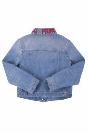 Patched denim jacket od Gucci Kids