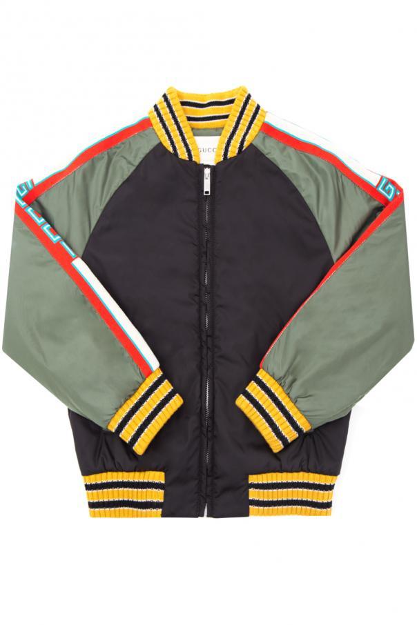 dfd5a1d0b615 Logo-embroidered bomber jacket Gucci Kids - Vitkac shop online