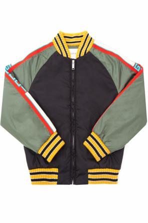 Logo-embroidered bomber jacket od Gucci Kids