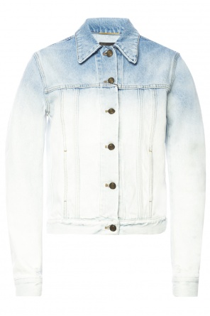 Faded denim jacket od Saint Laurent