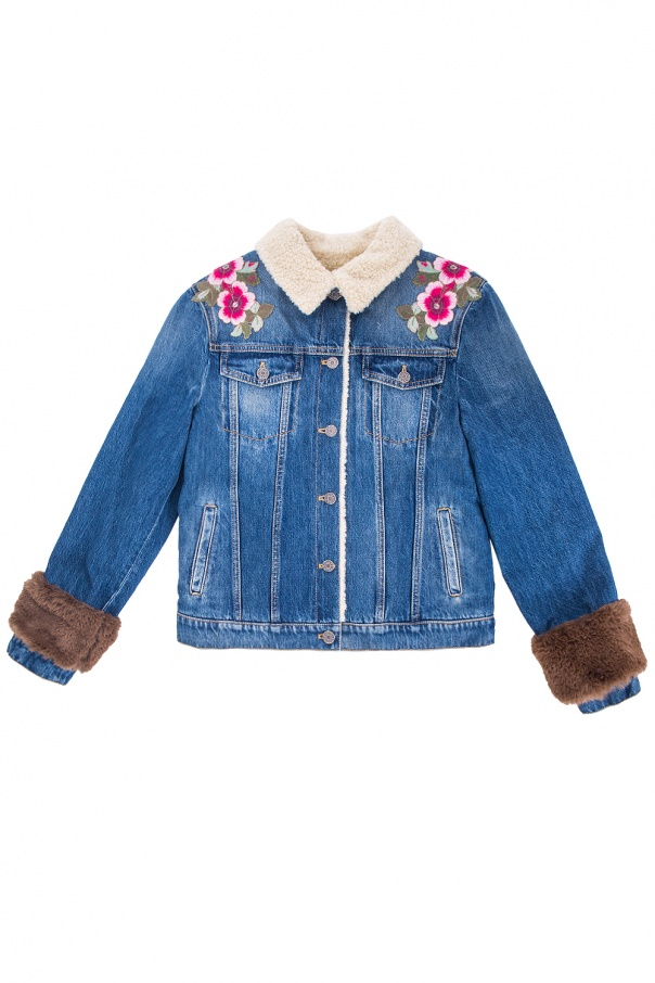 Padded denim jacket od Gucci Kids