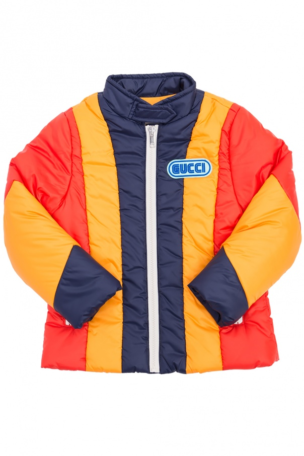 Gucci Kids Insulated striped jacket