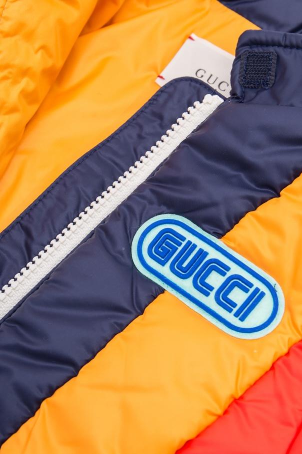 Insulated striped jacket od Gucci Kids