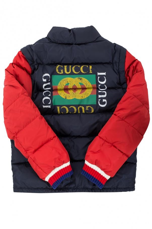 Kurtka z odpinanymi rękawami od Gucci Kids