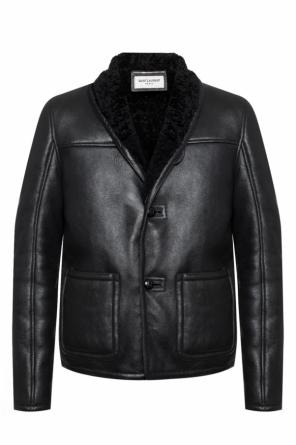Fur-trimmed jacket od Saint Laurent