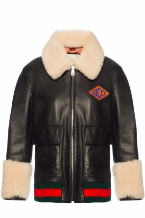 Leather jacket with a fur finish od Gucci