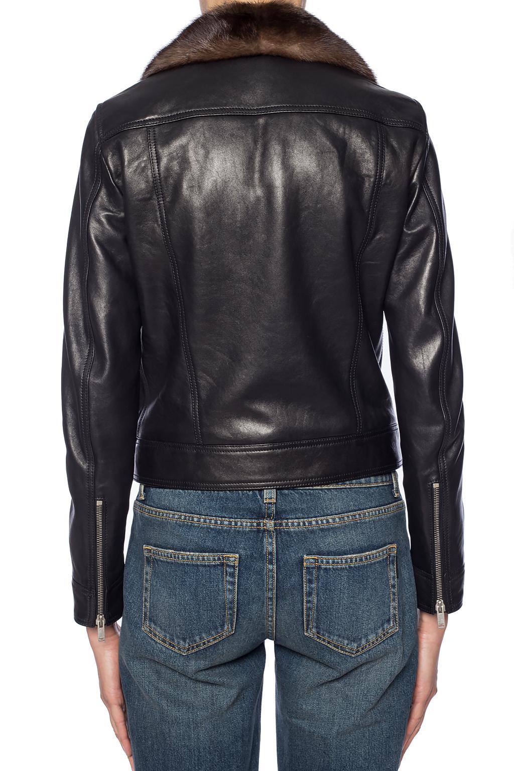 Saint Laurent Fur-trimmed jacket