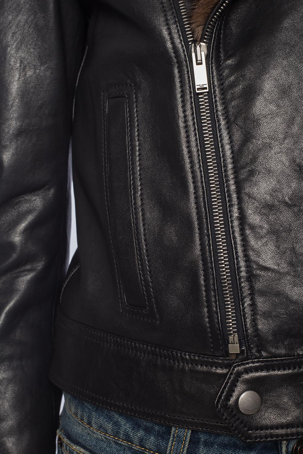 Saint Laurent Fur-trimmed jacket