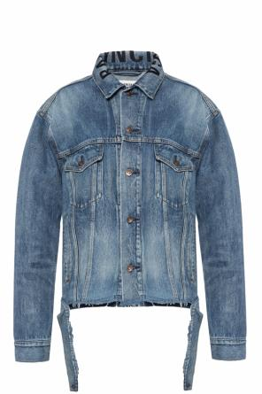 Raw edge denim jacket od Balenciaga